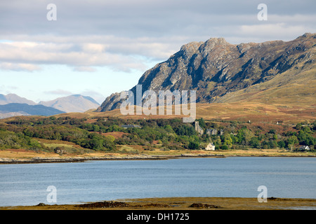 View of Arisaig overlooking Loch Nan Ceall - Stock Image