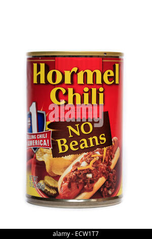 Hormel Chili with No Beans - Stock Image