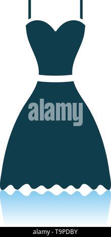 Dress Icon. Shadow Reflection Design. Vector Illustration. - Stock Image