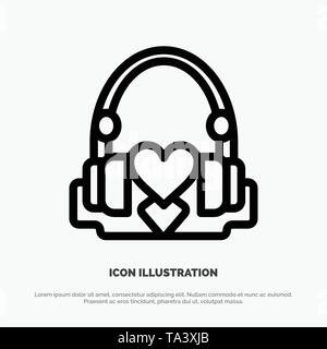 Handbag, Hearts, Love, Loving, Wedding Line Icon Vector - Stock Image