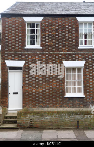A brick built house on Walton Street in the Jericho area of Oxford - Stock Image