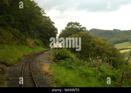 Rheidol Valley Railway, passing Rhiwfron Halt - Stock Image