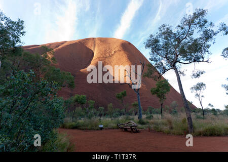 Close-up, wide-angle, view of Kata Tjuṯa, a group of large, domed rock formations in Uluṟu-Kata Tjuṯa National Park, Northern Territory, Australia - Stock Image