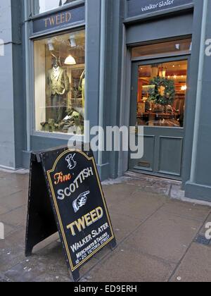 The Scottish Tweed Shop Edinburgh Victoria St Scotland - Stock Image