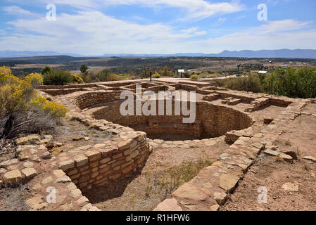Great Kiva, Escalante Pueblo, Canyon of the Ancients National Monument, Dolores, Colorado, USA 180929_69819 - Stock Image