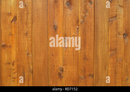 Stained cedar fence boards. - Stock Image