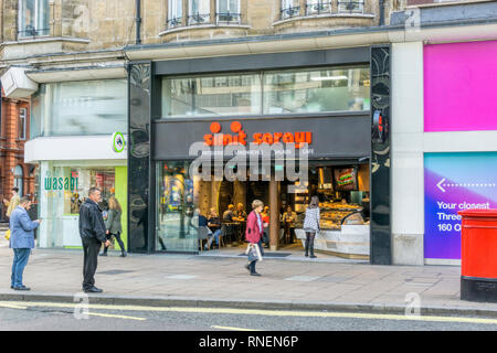 A branch of Simit Sarayi, Turkish patisserie in Oxford Street, London. - Stock Image