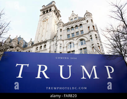 Donald Trump renovating the old Post Office Pavillion in Washington DC. - Stock Image