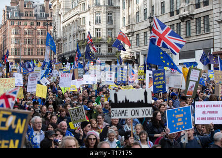 People's Vote March, London, England - Stock Image