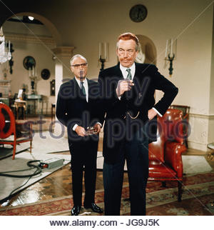 CASINO ROYALE (1967)  Pictured:  L-R Charles Boyer, John Huston.  copyright Columbia Pictures.  Photo courtesy Granamour - Stock Image