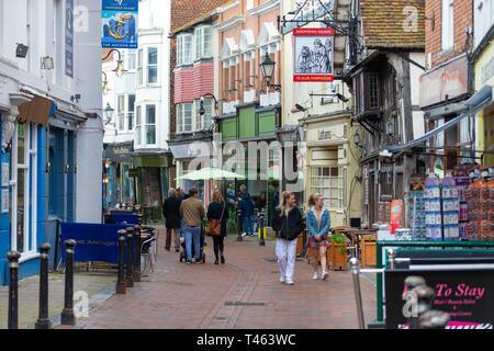 George street, old town hastings, east sussex, uk - Stock Image