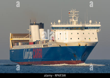 Color Carrier inbound for Kiel from Oslo - Stock Image