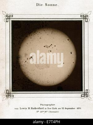 The Sun, 22nd Sept. 1870, by Lewis Morris Rutherfurd - Stock Image