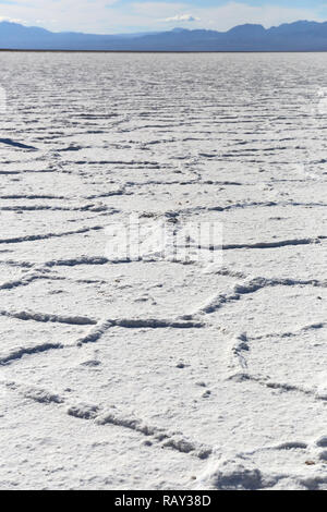 Salt at Badwater in Death Valley, California, USA - Stock Image