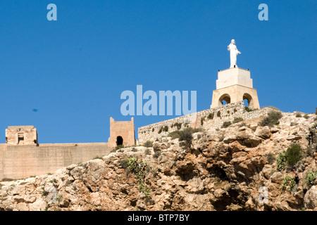 Castle Santa Barbara, Alicante, Costa Blanca, Spain - Stock Image