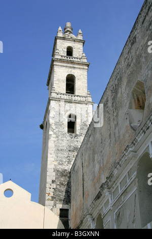 Cathedral de San Ildefonso, Merida, Yucatan State, Mexico - Stock Image