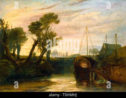 JMW Turner, Newark Abbey, painting, c. 1806 - Stock Image