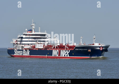 Stena Impeccable off Cuxhaven - Stock Image