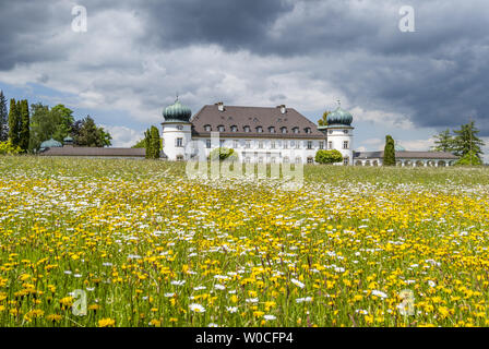 Castle and park Hoehenried, Bavaria, Germany - Stock Image