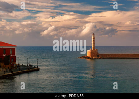 Old harbour, Chania, Crete, Greece - Stock Image
