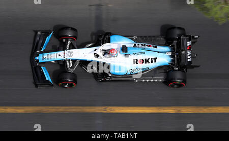 Williams George Russell during second practice at the Circuit de Monaco, Monaco. - Stock Image