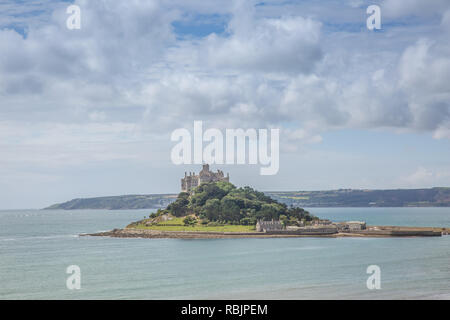 St Micheals Mount in Cornwall - Stock Image