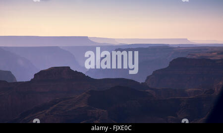Grand Canyon Flat Peaks Sunrise - Stock Image
