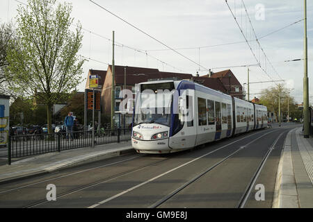 The Hague Alstom Citadis Tram at Delft North -1 - Stock Image