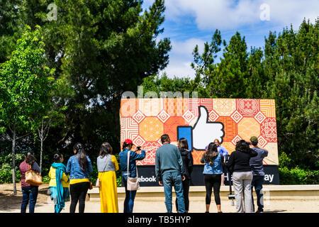Facebook Headquarters in Menlo Park California Silicon Valley California USA - Stock Image