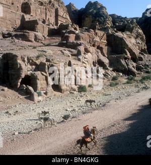 Horseman Petra Jordan - Stock Image