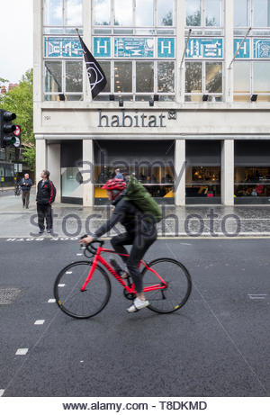 Habitat flagship store on Tottenham Court Road, London, UK - Stock Image