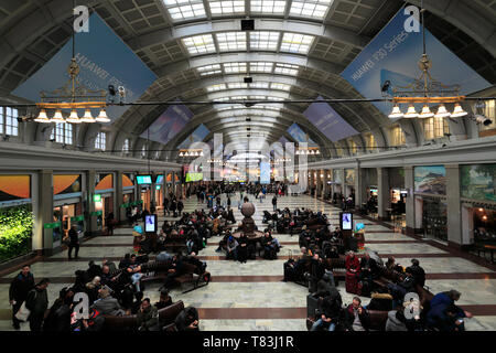 Interior view of the Central train station, Stockholm City, Sweden, Europe - Stock Image