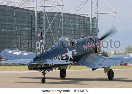 Zeltweg 2005 AirPower 05 airshow Austria Corsair F4U - Stock Image