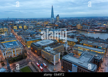 View over River Thames & The Shard, London, UK - Stock Image
