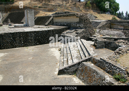 Patio de los Altares, the Archeological Excavations at the Great Pyramid of Cholula, Mexico - Stock Image