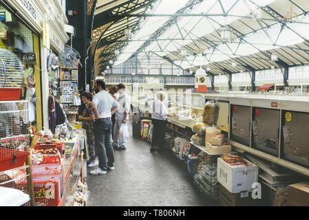 Cardiff Central Market, Cardiff, Wales. Cymru. Circa 1980's - Stock Image