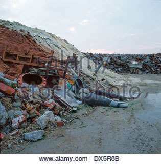 Chemical industry waste disposal and landfill site, UK - Stock Image
