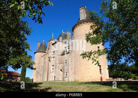 France, Occitanie, Lot department (46), Saint-Jean-Lespinasse, Montal castle - Stock Image