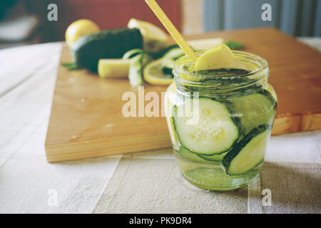 cucumber and water cold drink - Stock Image
