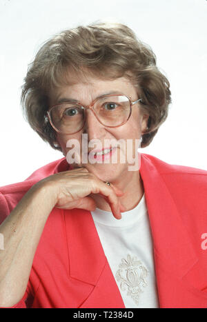 1996, Senior Woman Poses for a Portrait, USA - Stock Image