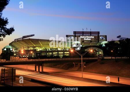 Charlotte, North Carolina. Bank of America stadium at night. - Stock Image