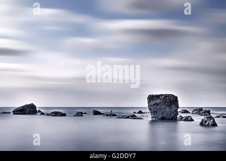 Isle of Wight, Freshwater Bay, Hampshire, England, UK - Stock Image