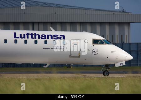Lufthansa CityLine Canadair CL-600-2C10 Regional Jet CRJ-701ER - Stock Image