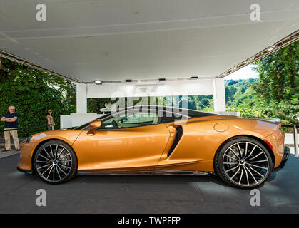 Turin, Piedmont, Italy. 22nd June 2019. Italy Piedmont Turin Valentino park Auto Show 2019 - Mc Laren GT Credit: Realy Easy Star/Alamy Live News Credit: Realy Easy Star/Alamy Live News - Stock Image