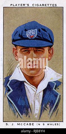 S J McCabe, Australian cricketer, New South Wales. - Stock Image