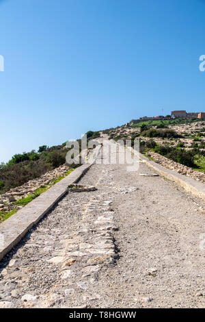 Road to Oufella in Agadr, Morocco - Stock Image