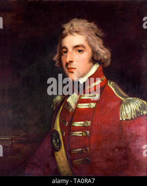 John Hoppner, Lieutenant Colonel Arthur Wellesley, aged 26, in the 33rd Regiment, portrait painting, c. 1795 - Stock Image