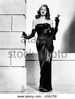 GILDA (1946) - Pictured:  Rita Hayworth.  Editorial use only.   Copyright Columbia Pictures. - Stock Image