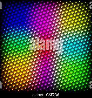 Abstract spectrum dark background with colored sparkles. - Stock Image