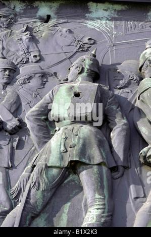 war heroism travel tourism Victory Column Germany Siegessäule Berlin Heinrich Strack 1864 deutschland history - Stock Image